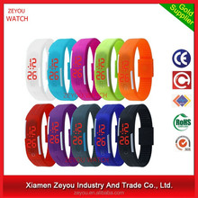 R0775 Plastic touch screen led watch & TPU touch screen led watch