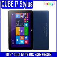 """Original 10.6"""" CUBE I7 Stylus Windows 10 Tablet PC Intel Core M IPS 1920*1080 Mini HDMI 4GB RAM 64GB ROM 2 in 1 tablet"""