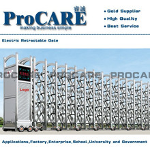 hot sale 2015 stainless steel automatic folding sliding gate
