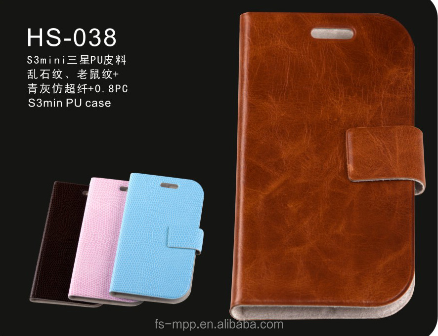 markerting anti-scratchl phone leather pu case for samsung note2