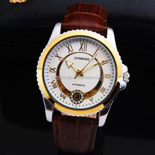 wholesale china made classic men leather watch mechanical movement 2015