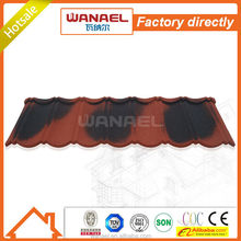 Classical Wanael stone coated steel roof tile/color coated iron sheet/cheap roofing materials