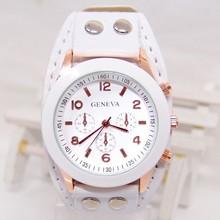 Promotion !Fashion Bracelet watch for women leather strap Watch Alibaba express 2015 HOT geneva watch