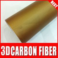hot sale TS auto coating sticker carbon fiber folie pdlc film for car brown Yellow