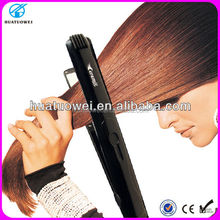Hot sell flat iron hair straightener with teeth