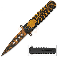 8 Inch aluminum handle stainless steel pocket folding sporting knife