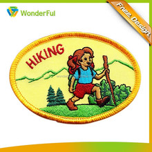 Funny Oval Embroidery Designs Badge,Embroidery Patch