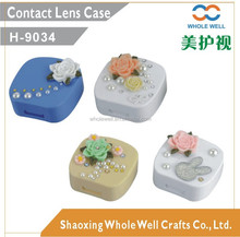 Beautiful flower contact lens cases