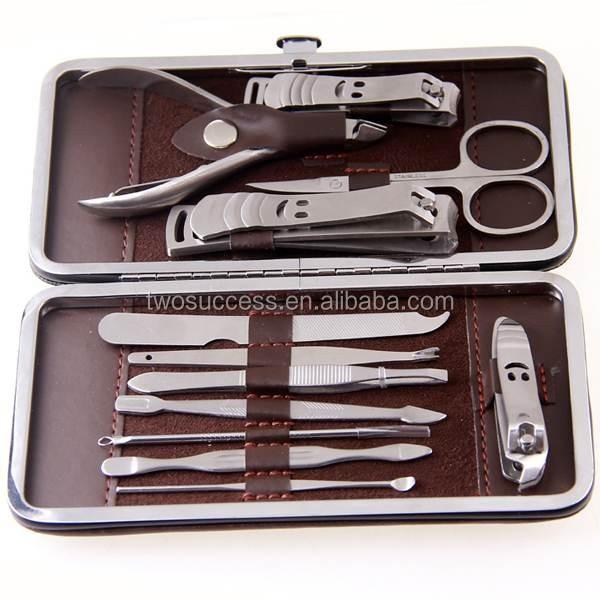 Leather bag beauty cute nail manicure set pocked set beauty care