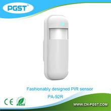 Fashionably designed wireless passive infrared pir motion detector / motion sensor PA-92R, 433/868Mhz
