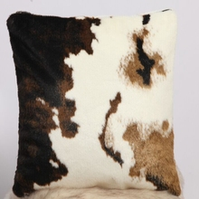 Animal Cow Skin Pattern Soft Faux Fur Decorative Throw Pillow Cover ,car seat cushion Case