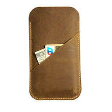 Genuine Calfskin Leather Cover for iphone 6 with Card Holder