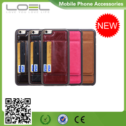 Hot Selling For iPhone6s Back Genuine Leather Case, For iPhone 6/6s Case Genuine Leather with Card Slot