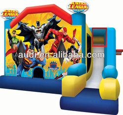 Superheros! Justice League Inflatable bouncer Superman, Batman, Flash, Green Lantern and Wonder Woman Combo