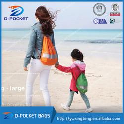 2015wholesale Polyester Drawstring Bag waterproof beach bag