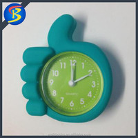 Thumb shape silicone desk alarm clock promotion clock decoration clock