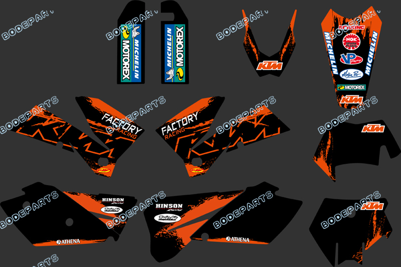 Team Graphics Amp Backgrounds Decals For Sxf Mxc Sx Exc 2005