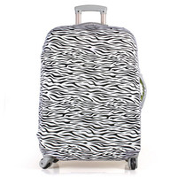1pcs New Arriva Elastic Waterproof Crtoon Travel Luggage Suitcase Protective Cover Bags Black 20