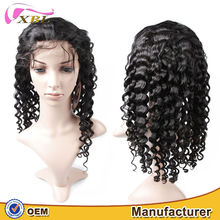 XBL 2015 100% Brazilian hair natural curly full lace wig kinky curly wig