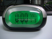 Digital LCD alarm clock with back light and time talking