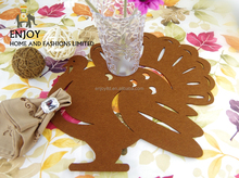 Thanksgiving decoration Turkey Felt Placemat