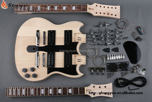 Double neck DIY electric guitar kits