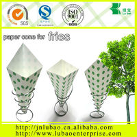 popular and cheap paper cone shaped holder with oil and water resistant