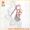 Apparel High heeled shoes rhinestone transfer designs