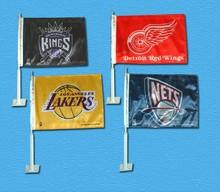 usa kings nets losangeles lakers basketball club fans car flag