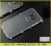 2015 alibaba wholesales luxury bling bling metal frame and tpu cover case for samsung s6 edge
