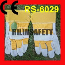 RILIN SAFETY pig leather glove ,dubai importers of leather working gloves CE EN388 EN407