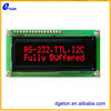 20x2 black character LCD display with red backlight
