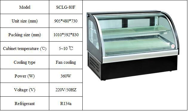 Catering Equipment Cheering Table Top Air Cooled Type