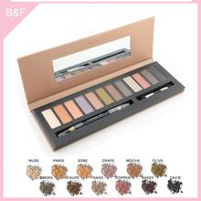 branded eyeshadow makeup palettes professional colorful flower shape kabuki brush
