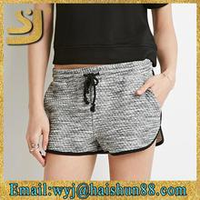 Comfortable crossfit shorts wholesale,womens light grey classic retro feel shorts
