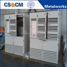Powder coated standing distribution box / cabinet with four doors