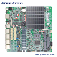 ZC-BT194L MINI ITX 4 LAN Motherboard Onboard CPU J1900 TDP only 10W Energy Saving DC 12V-19V Power Supply Fanless Motherboard