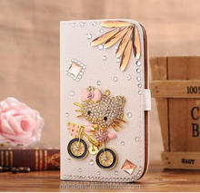 luxury cartoon phone cases hello kitty case for iphone 5 wallet flip case