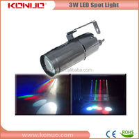 Hot sale led disco light 3W led pin spot lights