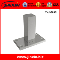 Jinxin stainless steel square handrail post 5mm base plate YK-9369C