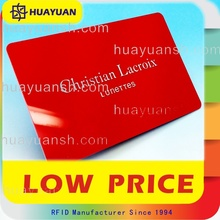 High quality plastic business contactless membership rfid cards