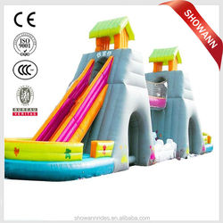 jumbo water slide inflatable/giant inflatable water slide for sale