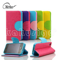 H&H cute wallet cover case for samsung galaxy s4 i9500 from alibaba