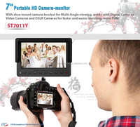 """7"""" HD LCD camera monitor with H D ML , YPbPr, CVBS, AUDIO inputs for Digital Cameras, Video Cameras and DSLR Cameras"""