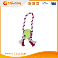 "Rope&Ball Tennis Ball Dog Chew Toy, Dia 2.8"" x 7.9"", Free Sample"