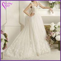 Latest product simple design ball grown wedding dress on sale