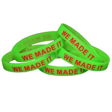 Inspirational wristband one life one change Spray painted silicone bracelet