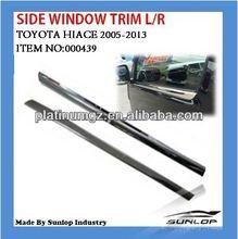 car body parts 000439 Chrome side window trim for Toyota hiace 2005 up,commuter van,quantum,hiace 200