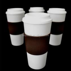 hot Reusable Double Wall 16oz BPA Free Plastic CUP Travel Tea Coffee Mugs wholesale,custom plastic coffee Mug cups manufacturer