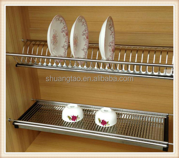 Kitchen Cabinet Stainless Steel Dish Rack Of Guangzhou